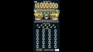 $20 - $5,000,000 BANKROLL! Newer Ticket from NYS Lottery!  Lottery Scratch Off instant win tickets!