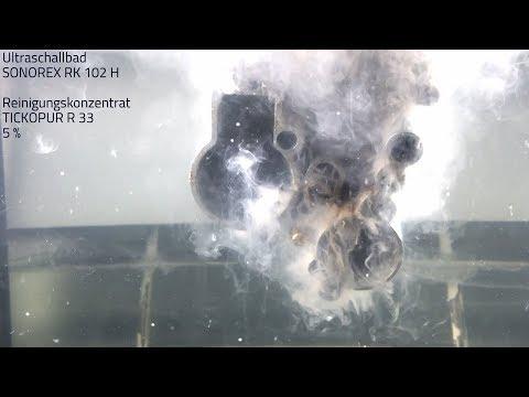 Vespa Vergaser mit Ultraschall reinigen im BANDELIN SONOREX Ultraschallreiniger