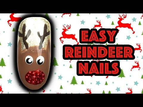 HOW TO PAINT REINDEER NAILS | TASH'S CHRISTMAS QUICKIE RUDOLPH NAIL ART