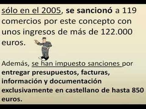 Sanciones contra la rotulación en castellano en Cataluña