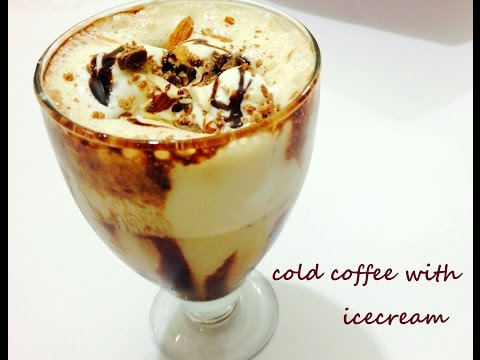 Video Cold Coffee with Ice Cream and Nuts-Iced Coffee-  Easy and Quick Delicious Cold Coffee Recipe