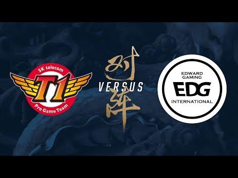 SKT vs. EDG   Group Stage Day 8   2017 World Championship   SK telecom T1 vs Edward Gaming
