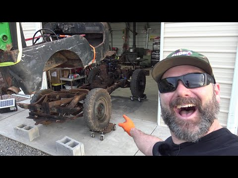 Willys Jeep Rescue: Best laid plans...SOMETIMES FAIL!! Body Comes Off!!