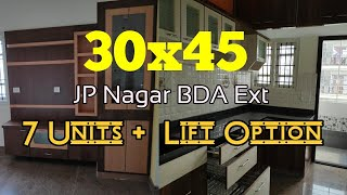 30x45 BDA 7 Units Independent New Building Sale in JP Nagar Ext BG Road
