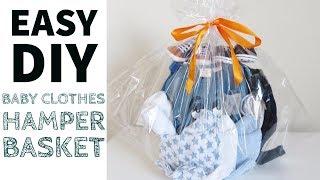 D.I.Y Baby Shower Gift Hamper Basket