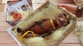 Обзор куклы ручной работы. Игрушка Чеширский кот Хендмейд
