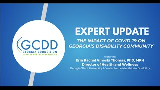 Expert Update – The Impact of COVID-19 on People With Disabilities