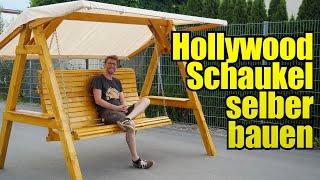 Hollywoodschaukel für den Garten selber bauen