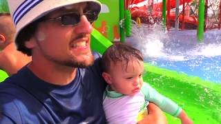 SPONGEBOB WATER PARK! (Nickelodeon Resort Hotel Punta Cana Beach Part 2 w/ FUNnel Vision Family Fun)