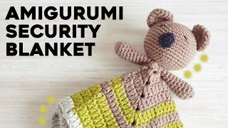 HOW TO CROCHET BABY SECURITY BLANKET or LOVEY: crochet amigurumi koala, step by step tutorial