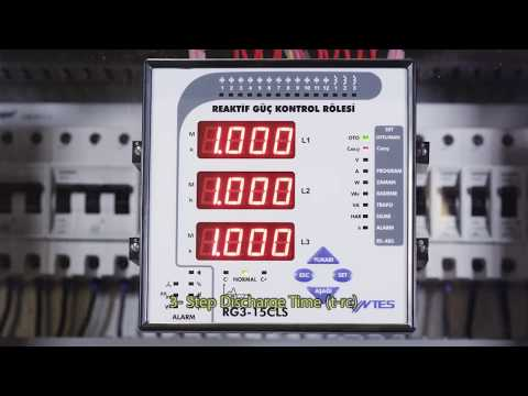 TR RG3-15 CLS Power Factor Controller On Delay, Off Delay And Discharge Settings