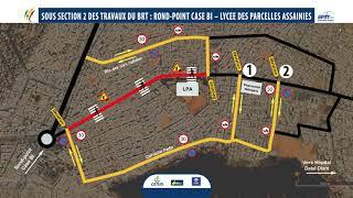 Plan de déviation de la section 2 du projet BRT