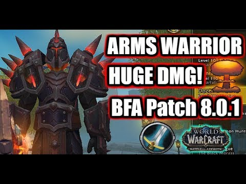 BFA PATCH 8 0 1 | FURY WARRIOR PVP GUIDE | Best Stats, Talents
