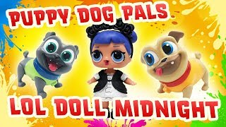 LOL Surprise Doll Midnight Plays Simon Says with the Puppy Dog Pals to win a Surprise Bag!