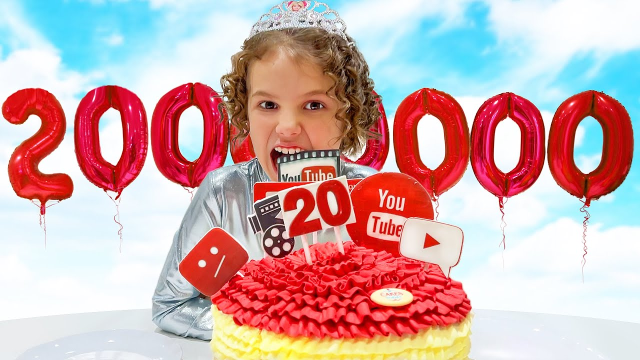 Катя и Макс празднуют 20 миллионов на канале Мисс Кейти