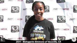 2021 Mahoganie Simmons Catcher Softball Skills Video - Lady Wolfpack