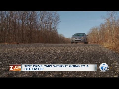 Test drive cars without going to a dealership