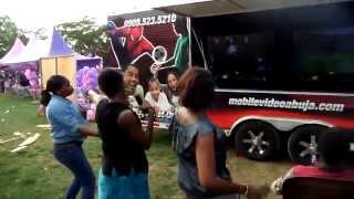 preview picture of video 'Girls having fun dancing at a Mobile Video Game Truck Abuja Party!!'