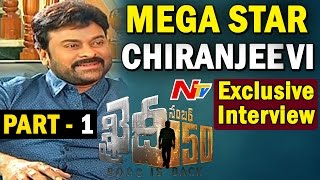 Megastar Chiranjeevi Exclusive Interview  Khaidi No 150  BossIsBack  Part 01