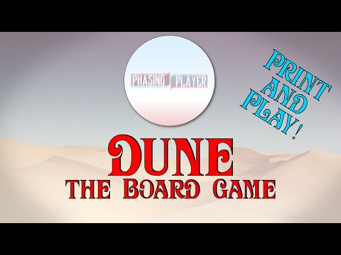 Making Dune, the Board Game [Print and Play]