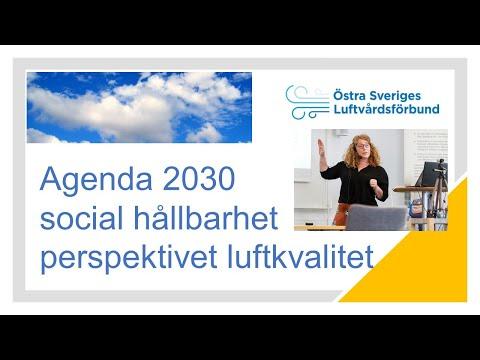 Agenda 2030 och social hållbarhet -med perspektivet luftkvalitet video thumbnail.