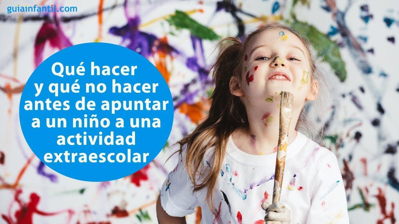 Consejos antes de apuntar a un niño a una extraescolar | #ConectaConTuHijo