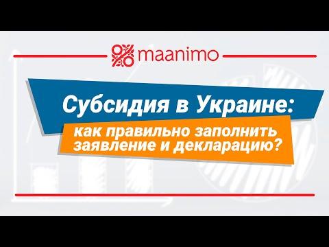 Субсидия в Украине: как правильно заполнить заявление и декларацию? / maanimo