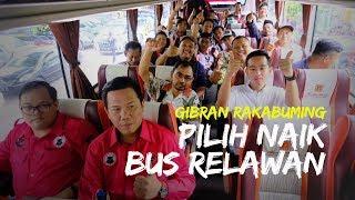 Pilih Naik Bus Ketimbang Pajero Sport Kesayangan, Gibran Berbaur Bersama Relawan