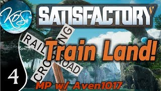 Satisfactory Ep 4: INFINITE POWER! - Train Land! MP w/ Aven1017 - Let's Play, Gameplay