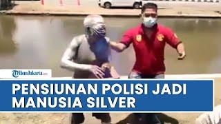 Viral di Media Sosial Pensiunan Polri di Semarang Jadi Manusia Silver, Terjaring Razia Satpol PP