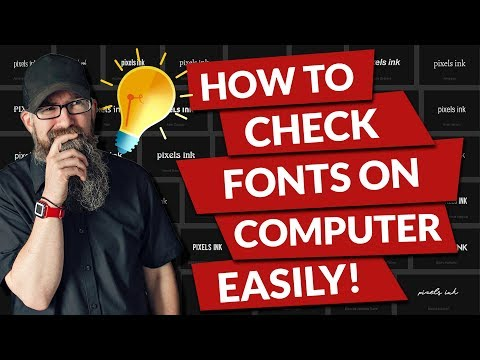 How to check fonts on computer