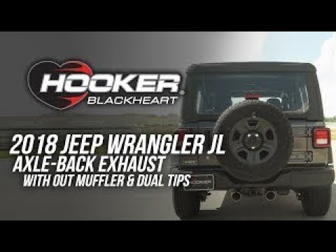 2018 Jeep Wrangler JL - Hooker Axle-Back Exhaust w/o Muffler & Dual Tips BH5414