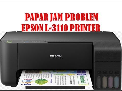 Papar Jam Epson L 3110 Printer Papar Jam Error Papar Jam