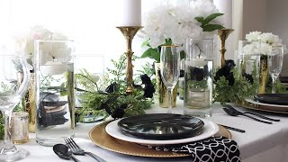 Black And White Tablescape | Wedding Ideas