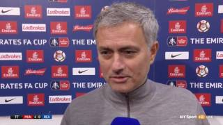 Jose Mourinhos Post Match Interview   Manchester United 4 0 Reading