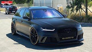 Audi RS7, R8 & RS6 Leaving RS Performance Day 2018! - Manual R8 V10, ABT RS6+, RS6 Milltek,...