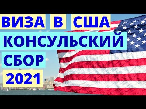 Виза в США. Оплата консульского сбора. Изменение в 2020.
