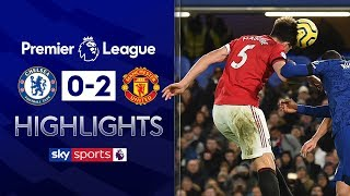 SUBSCRIBE ► http://bit.ly/SSFootballSub PREMIER LEAGUE HIGHLIGHTS ► http://bit.ly/SkySportsPLHighlights  Manchester United blew the race for the top four wide open with a 2-0 win at Chelsea amid more VAR controversy at Stamford Bridge on Monday night.  Watch Premier League LIVE on Sky Sports here ► http://bit.ly/WatchSkyPL ►TWITTER: https://twitter.com/skysportsfootball ►FACEBOOK: http://www.facebook.com/skysports ►WEBSITE: http://www.skysports.com/football  MORE FROM SKY SPORTS ON YOUTUBE: ►SKY SPORTS FOOTBALL: http://bit.ly/SSFootballSub ►SKY SPORTS BOXING: http://bit.ly/SSBoxingSub ►SOCCER AM: http://bit.ly/SoccerAMSub ►SKY SPORTS F1: http://bit.ly/SubscribeSkyF1