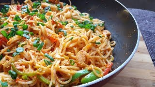 Delicious Chicken Spaghetti by (YES I CAN COOK) Chicken Vegetable Spaghetti