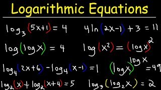 Solving Logarithmic Equations