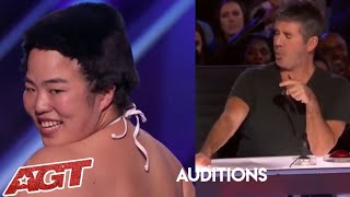 Japanese Dancer : STRIPS to Impress Julianne Hough! Will It Be Enough?   | America's Got Talent 2019