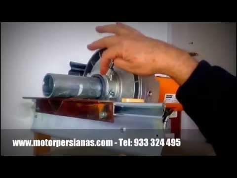 Dos tipos de motores para persianas enrollables