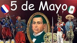 Batalla De 5 De Mayo. Batalla De Puebla. Victoria Mexicana El Ejército Francés Es Detenido.