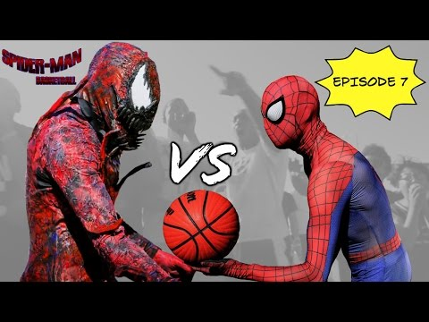 Spiderman Basketball Episode 7 ...Spiderman vs Carnage... SuperHero bball