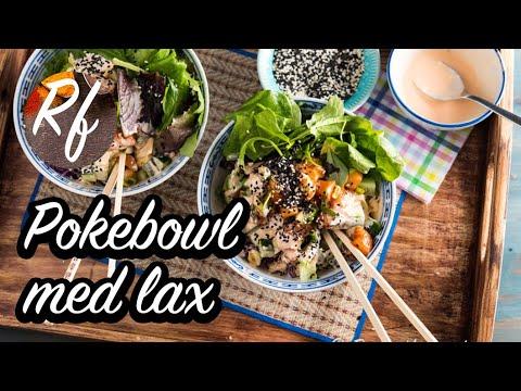 Prova min nyttiga och goda variant på Pokebowl - en slags sallad med sesam- och sojamarinerad rå lax, wasabi-dressing, sallad, avokado, babyspenat, ris, gurka, strimlad rödkål samt sesamfrön. Gillar du stark mat så kan du ta mer wasabi samt Sriracha sås.>