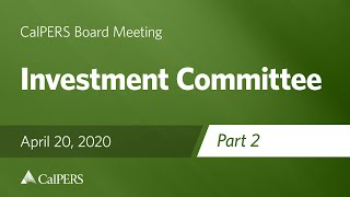 Investment Committee - Part 2 | April 20, 2020