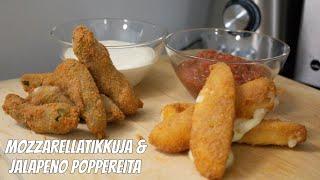 Kokkaillaan Mozzarellatikkuja & Jalapeno Poppereita!