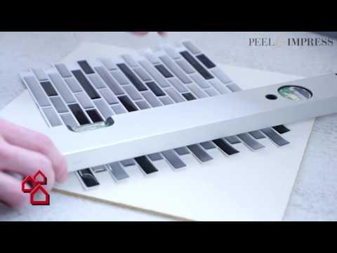 Selbstklebende Vinyl-Mosaikmatte Peel & Impress für Küchen | BAUHAUS