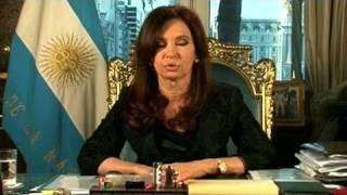 La Presidenta Cristina Fernández De Kirchner Agradece A Los Argentinos CADENA NACIONAL