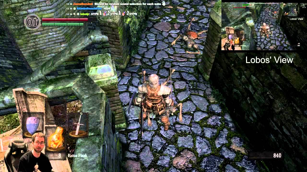 A Different Way To Play Dark Souls Using Twitch